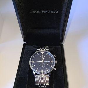 Emporio Armani AR1468 SS Watch NWT